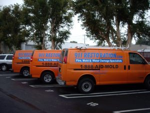 fire damage restoration vehicles