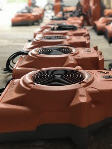 water damage restoration air movers