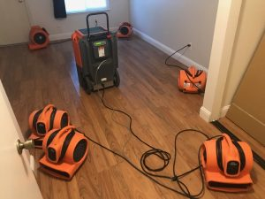 fire damage restoration air movers