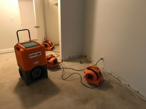 air movers used by the mississippi gulf coast water damage restoration team